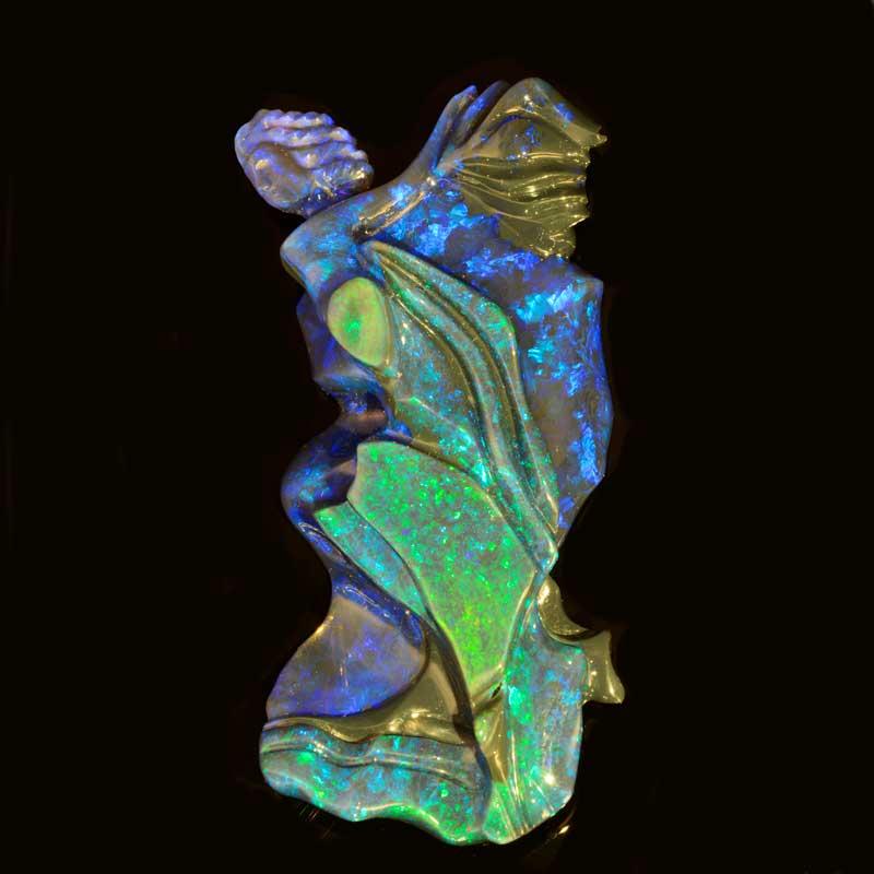 carved opal by artist Glenn Lehrer