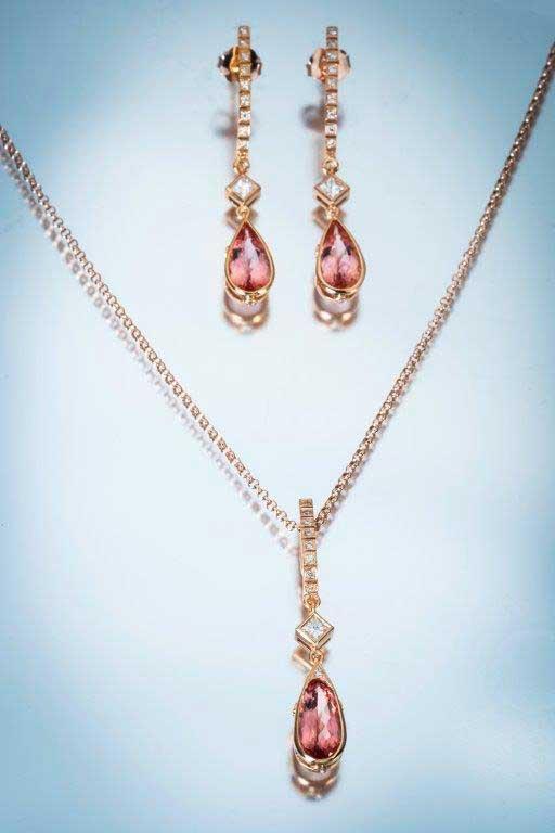 November's real topaz birthstone set in beautiful jewelry.
