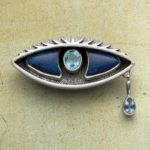 Metalsmithing Challenge: Blue Eye Sterling Silver Pendant with Lapis and Topaz