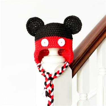 Mickey Mouse Inspired Baby Hat Interweave