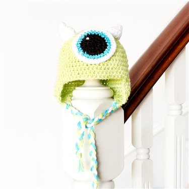 Monsters Inc Mike Wazowski Inspired Baby Hat Crochet Pattern