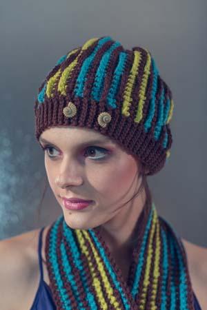 Striped Crochet Mirage Hat
