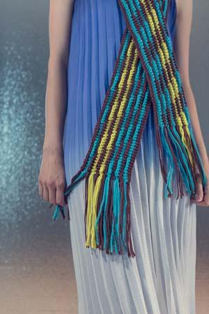 Tassels on Crochet Mirage Scarf