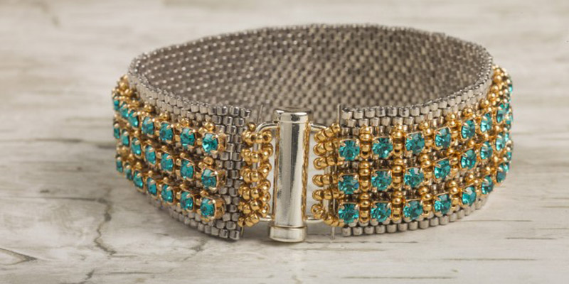18 Luxurious Beaded Jewelry Designs with a Vintage Flair. Mixed Metals Cuff