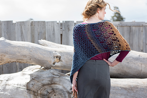 Back of Mixlace Crochet Poncho