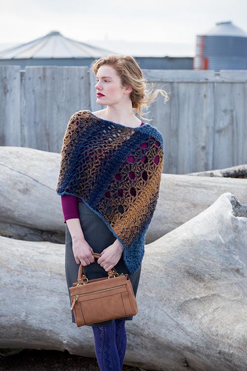 Mixlace Poncho Crochet Pattern