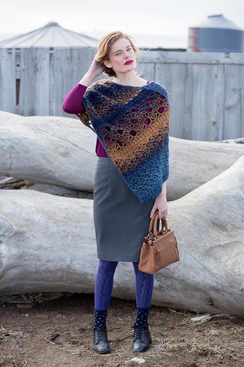 Mixlace Crochet Poncho Pattern