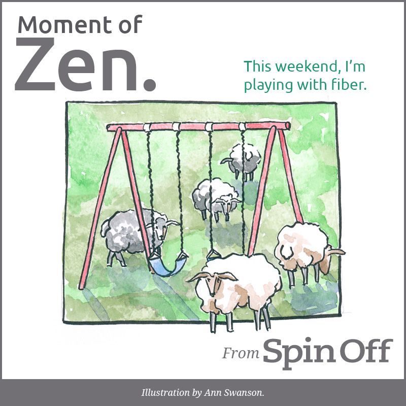 sheep playing on swing