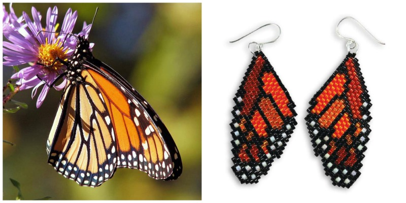Get inspired by nature and brick stitch a gorgeous butterfly if you want a quicker project karens ebook also includes a brick stitch pattern for a lovely pair of monarch butterfly wing earrings fandeluxe Epub