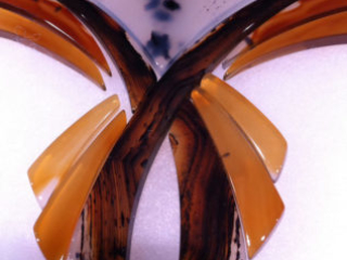 Montana agate set of cabochons at Donald K. Olson, GJX. Photo by Merle White.