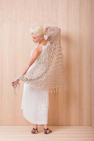 Moondrop Triangular Crochet Shawl