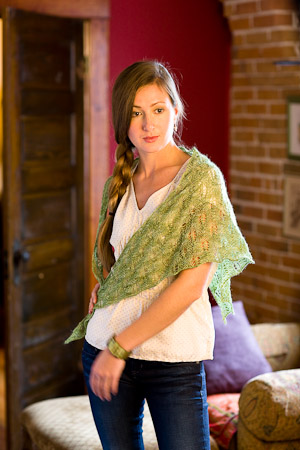 Emily Shawl from Perfect One Skein Knitted Gifts to Give