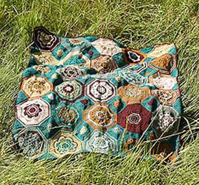 Moorish mosaic afghan by Lisa Naskrent | CrochetMe.com