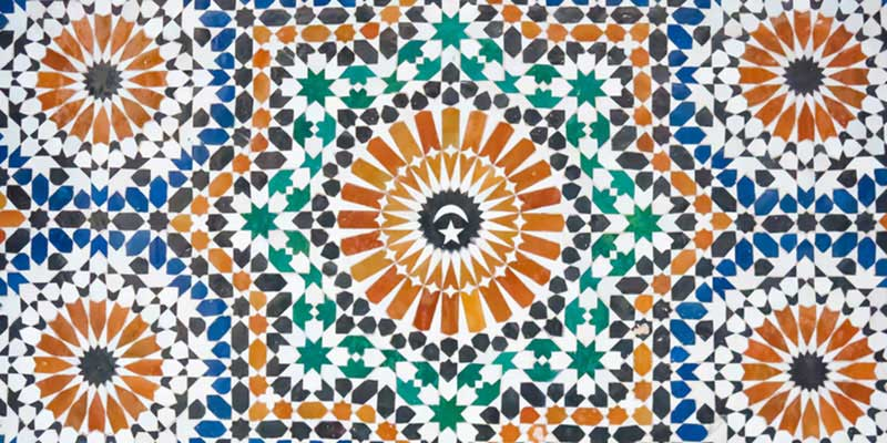 Moroccan tile, a great example of pattern and color