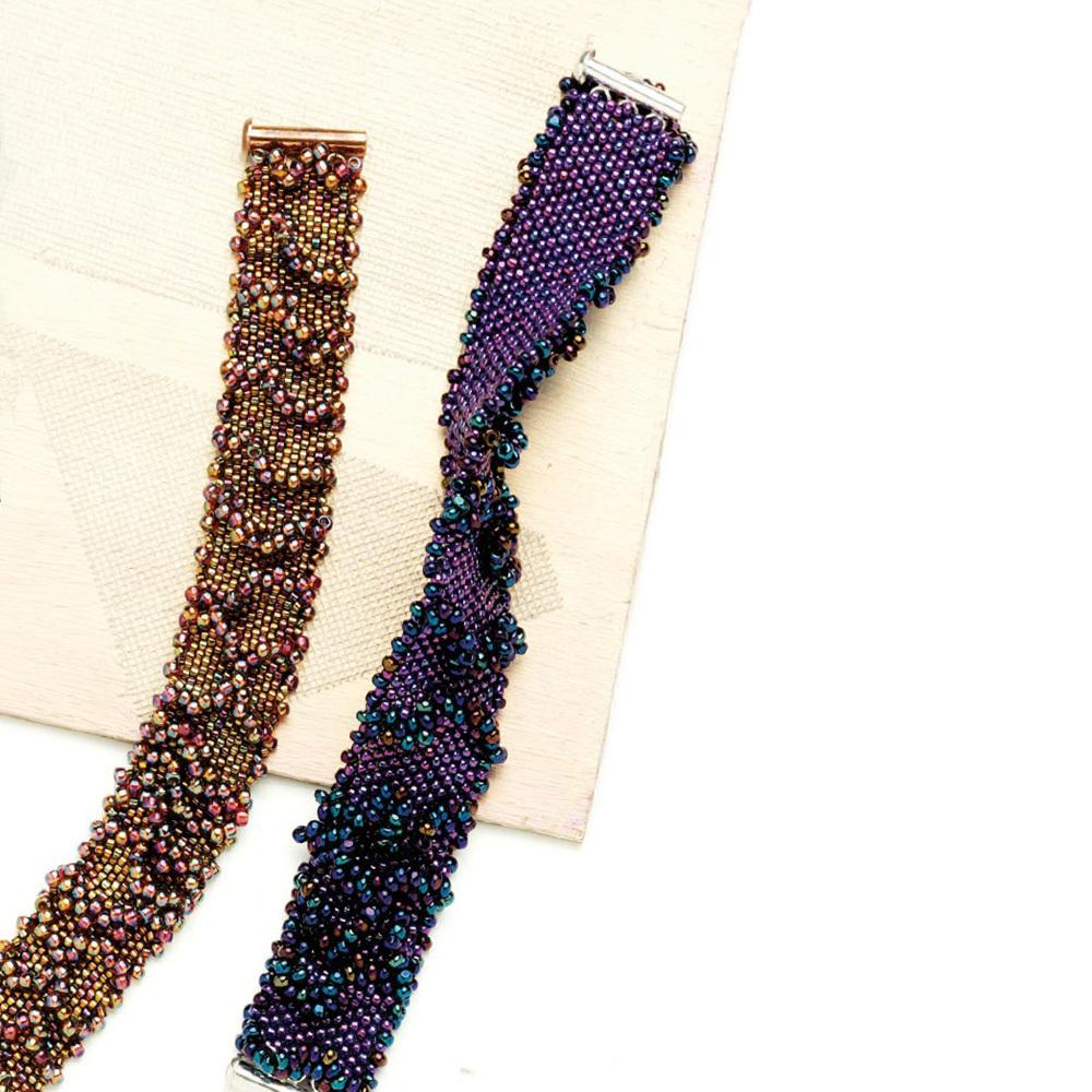 Peyote Ruffles Bracelet by Carol Mundy seed bead patterns