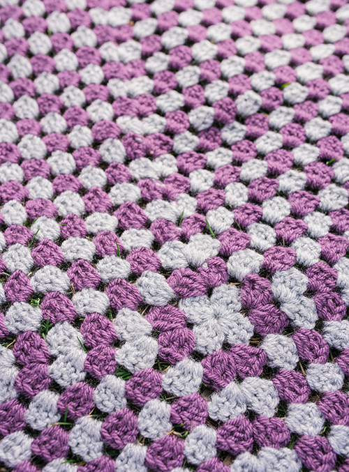 My Favorite Play Blanket made with crochet granny square blanket pattern