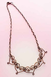 My Copper Heart necklace by Christine Dunbar