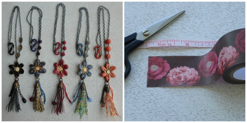 How to Make a Washi Tape Tassel Necklace Design
