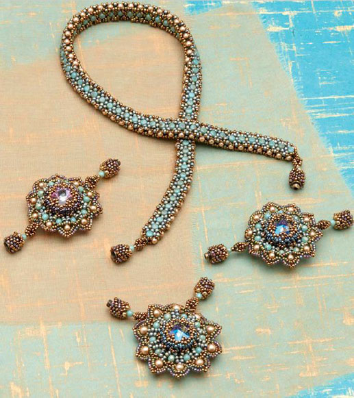 Bead Metamorphosis by Lisa Kan. Beaded jewelry designs that convert into additional wearable beaded designs.