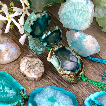 Stone beads and pendants. Photo: Halcraft Collection