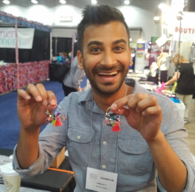jewelry tools and supplies: Nealay Patel's fun earring demo for Jesse James Beads using Halstead earrings findings