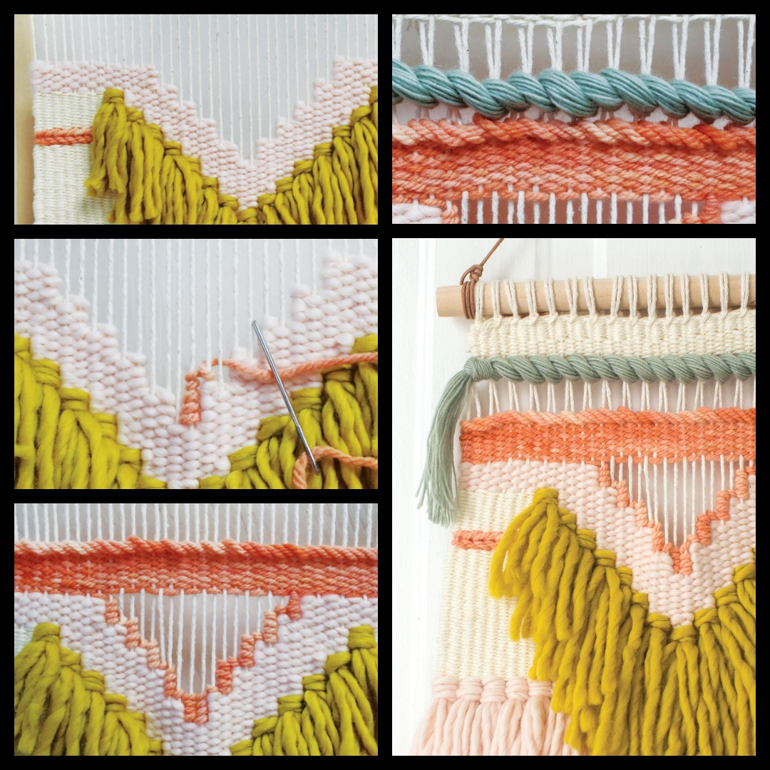 Negative space creates drama in your woven art pieces.