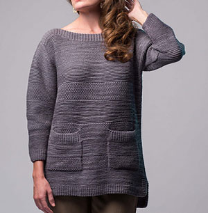 Learn about knitted sweaters with pockets, such as the Prismatic Pullover by Moon Eldridge.