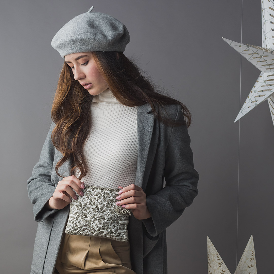Nordic Tapestry Pouch Interweave Crochet Winter 2019 CREDIT: Harper Point Photography