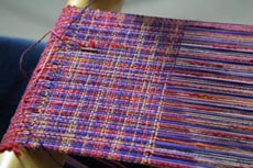 Use novelty yarns as weaving yarns to create exciting cloth!