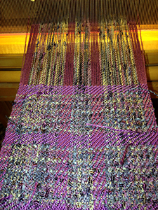 Christina's Scarf on the Loom