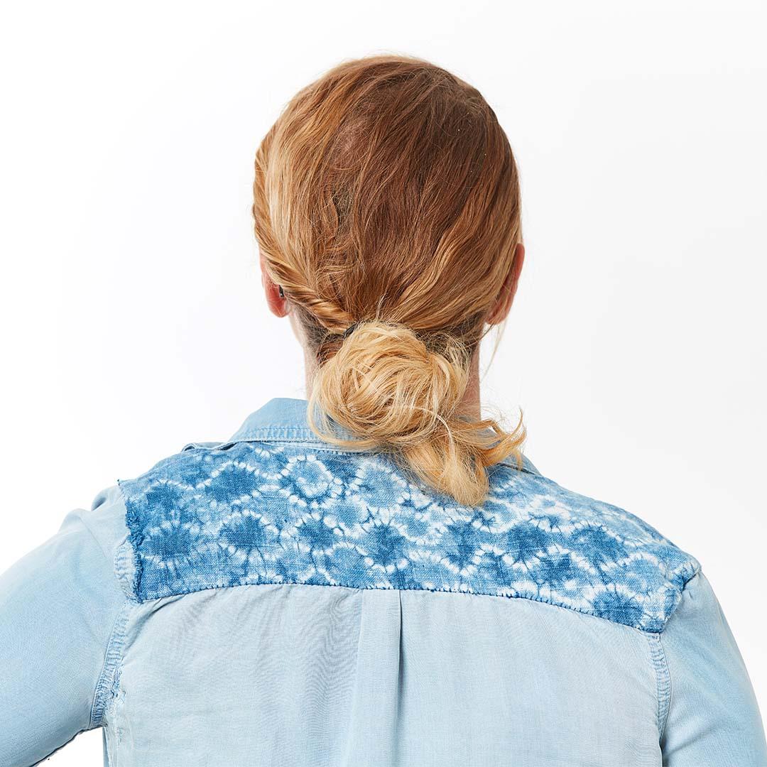 Hayley's nui shibori shirt yoke | Photo Credit: George Boe