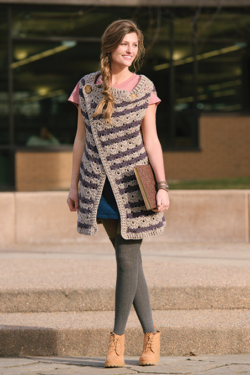 Oblique Vest Crochet Pattern