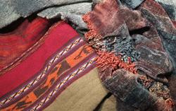 Handwoven mantas, ruanas, and shawls