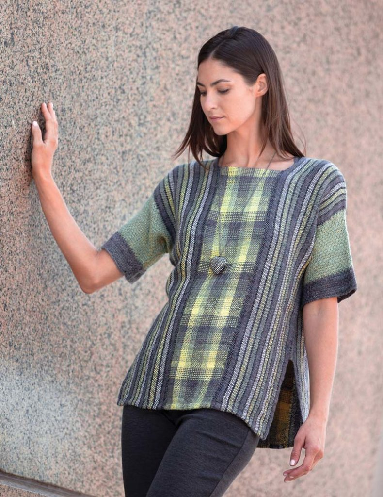 handwoven garments: Olive Garden tunic, woven in three panels. PHOTO BY ALEXIS XENAKIS.