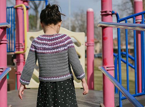 Back of the Olivetta Crochet Sweater