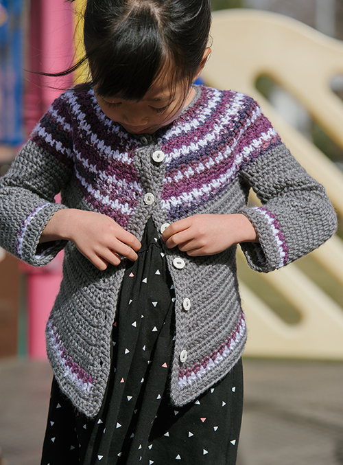 Buttoning Olivetta Crochet Sweater