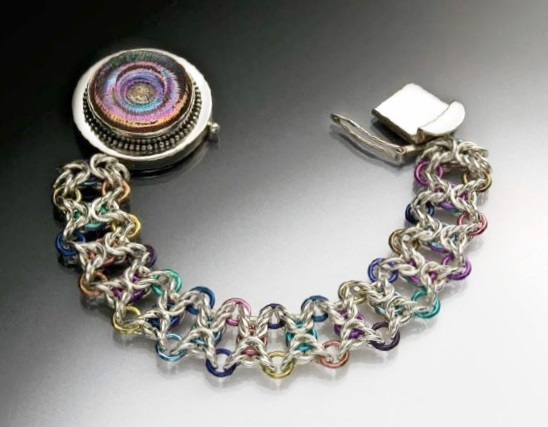 Olivia Bracelet chain maille jewelry making by Shelley Hubbs