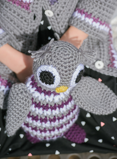 Top of Ollie the Owl Toy Crochet Amigurumi