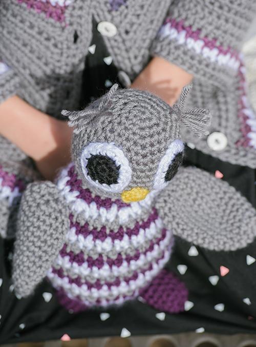 Top of Ollie the Owl Toy Crochet Amigurumi