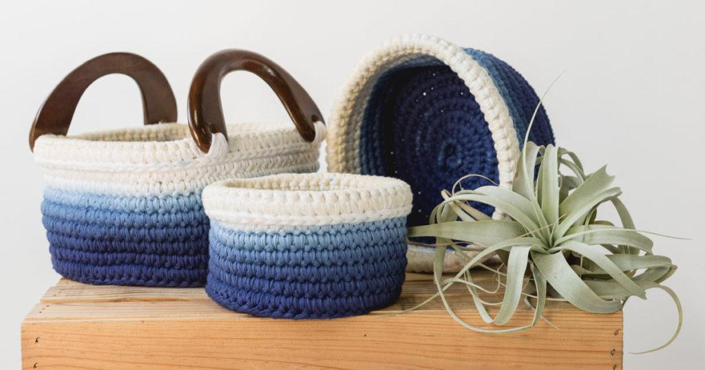 Pattern of the Week: Ombré Nesting Baskets