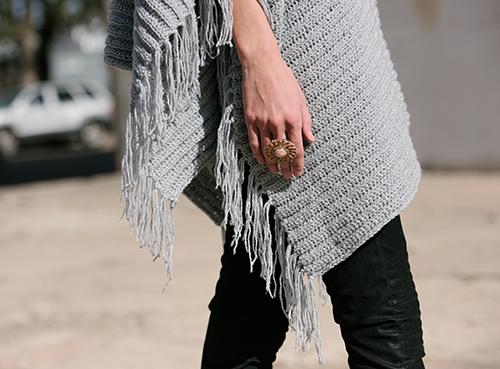 Fringe Edge of the On the Fringe Crochet Poncho