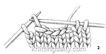 knitted Stitch One-Row Buttonhole fig 2
