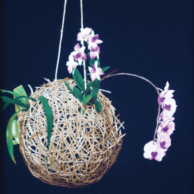 Orchid with root ball embroidered by Pham Thi Bong. Purchased by the author at a gallery in Hôi An, Vietnam.
