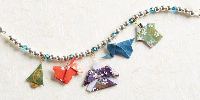 Origami jewelry made easy with the great book, Origami Jewelry Motifs