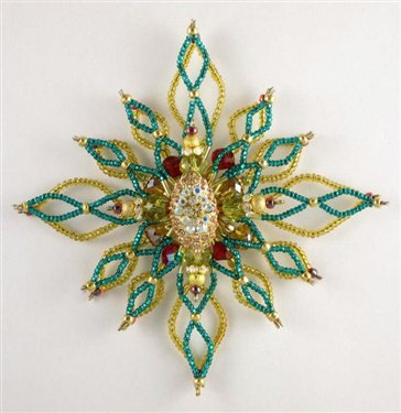 Star of Bethlehem Beaded Wire Ornament - Interweave