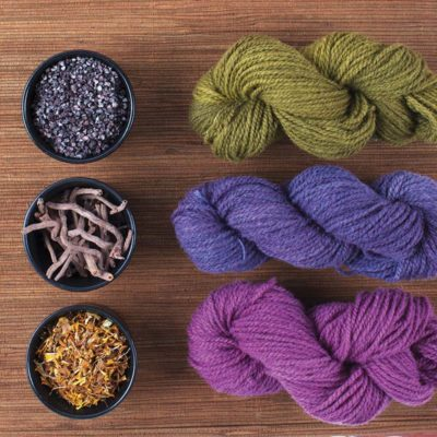 Natural dyes create harmonious colors.