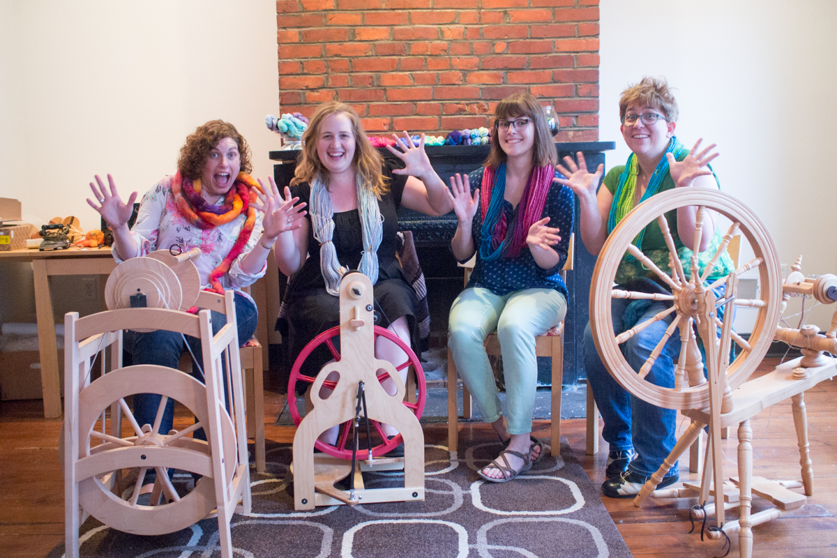 Meet the Steel City Fiber Collective. From left: . Photo: Nora Swisher.