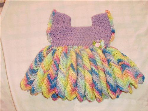 Crochet Chevron Baby Dress Pattern : Baby Dress, cute chevron skirt - Interweave