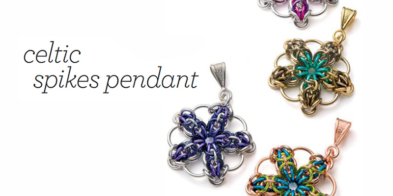 Favorite Project of the Week: Celtic Spike Chain Maille Pendant