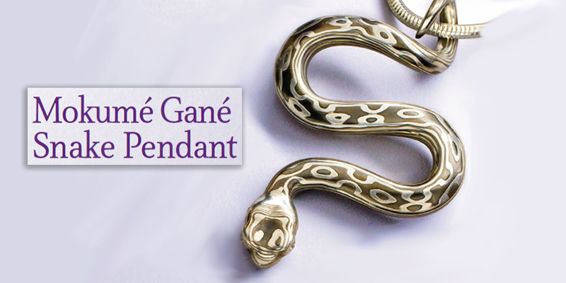 Favorite Project of the Week: Mokumé Gané Snake Pendant